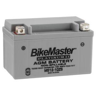 BikeMaster Platinum Batteries MS12-10ZS Battery, 12V Battery, 151mm L x 87mm W x 94mm H