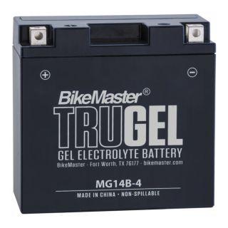 BikeMaster TruGel Batteries for Street MG14B-4 Battery, 150mm L x 69mm W x 145mm H