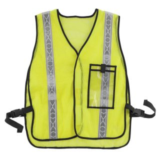BikeMaster Motorcycle Safety Vest Fluorescent Lime, One Size