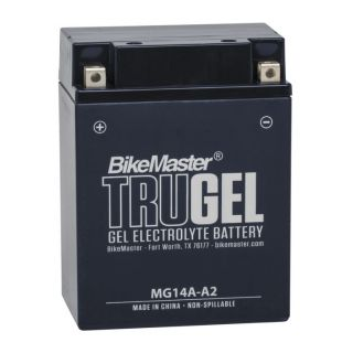 BikeMaster TruGel Batteries for ATV MG14A-A2 Battery, 134mm L x 88mm W x 176mm H