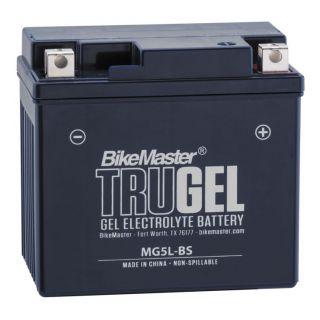 BikeMaster TruGel Batteries MG5L-BS Battery, 114mm L x 71mm W x 106mm H