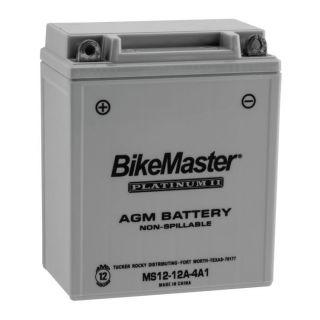 BikeMaster Platinum Batteries MS12-12A-4A1 Battery, 12V Battery, 134mm L x 80mm W x 161mm H