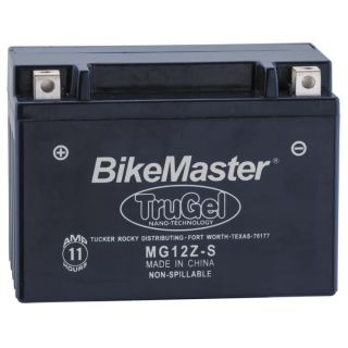 BikeMaster TruGel Batteries for Street MG12Z-S Battery, 151mm L x 87mm W x 110mm H