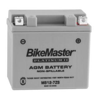 BikeMaster Platinum Batteries MS12-7ZS Battery, 114mm L x 71mm W x 106mm H