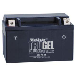 BikeMaster TruGel Batteries MG7A-BS Battery, 151mm L x 87mm W x 94mm H