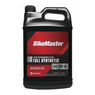 BikeMaster Full-Synthetic Oil Synthetic, 20W50, 1 gal., for Case Order 4