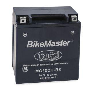 BikeMaster TruGel Batteries MG20CH-BS Battery, 151mm L x 87mm W x 161mm H