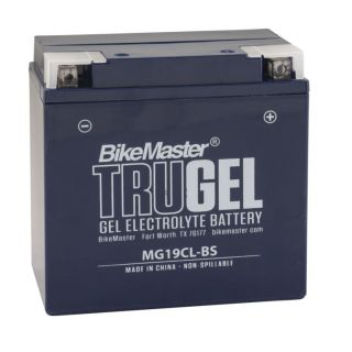 BikeMaster TruGel Batteries for ATV MG19CL-BS Battery, 175mm L x 100mm W x 175mm H