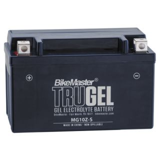 BikeMaster TruGel Batteries for ATV MG10ZS Battery, 151mm L x 87mm W x 94mm H