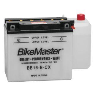 "BikeMaster Performance Conventional Batteries for V-Twin BB16-B-CX Battery, 6-7/8"" L x 3-7/16"" W x 6-1/8"" H"