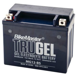 BikeMaster TruGel Batteries for ATV MG12-BS Battery, 151mm L x 87mm W x 130mm H
