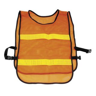 BikeMaster Reflector Safety Vest Flourescent Orange, One Size