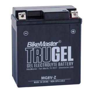 BikeMaster TruGel Batteries for Street MG8V-Z Battery, 113mm L x 70mm W x 130mm H