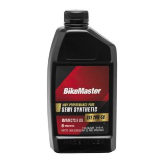 BikeMaster Semi-Synthetic Oil Semi-Synthetic, 20W50, 1 qt., for Case Order 12, New Packaging