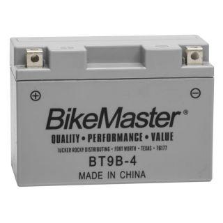 BikeMaster High-Performance+ Maintenance Free Batteries for Street BT9B-4 Battery